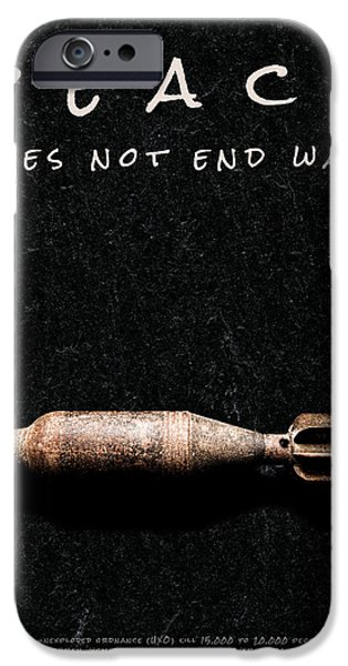 Dirty iPhone Cases - Peace Does Not End War iPhone Case by Weston Westmoreland
