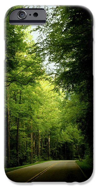 Smokey Mountain Drive iPhone Cases - Peace Found Within iPhone Case by Karen Wiles