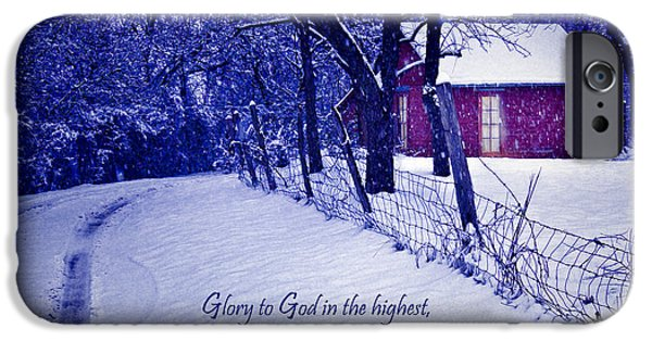 Christmas Greeting iPhone Cases - Peace Good Will Toward Men iPhone Case by David and Carol Kelly