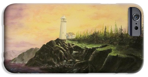Bob Ross Paintings iPhone Cases - Peace In Troubled Seas iPhone Case by Gavin Kutil