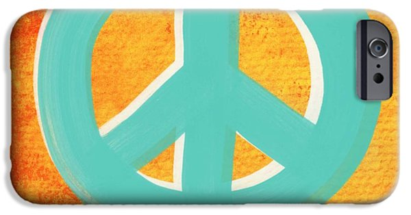 Pop Mixed Media iPhone Cases - Peace iPhone Case by Linda Woods