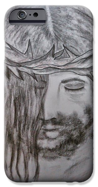 Religious Drawings iPhone Cases - Peace iPhone Case by Lori  Lovetere