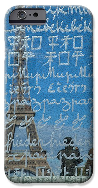 Glass Wall iPhone Cases - Peace Memorial Paris iPhone Case by Brian Jannsen