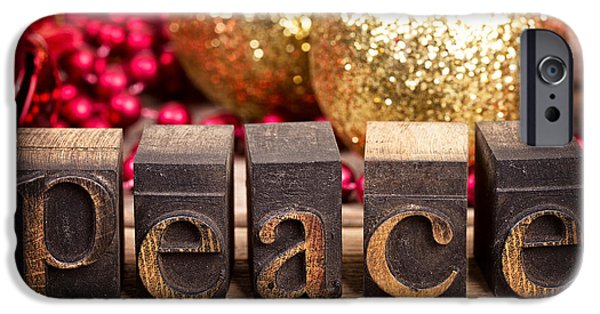 Christmas iPhone Cases - Peace message iPhone Case by Jane Rix