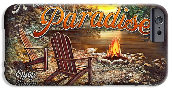 Cabin iPhone Cases - Peace of Paradise iPhone Case by JQ Licensing