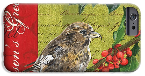 Xmas Paintings iPhone Cases - Peace on Earth 1 iPhone Case by Debbie DeWitt