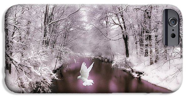 Card Digital Art iPhone Cases - Peace on Earth   iPhone Case by Jessica Jenney