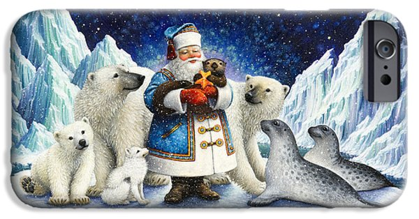 Arctic iPhone Cases - Peace On Earth  iPhone Case by Lynn Bywaters