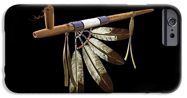Recently Sold -  - Canoe iPhone Cases - Peace Pipe iPhone Case by Todd and candice Dailey