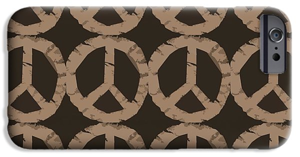 Michelle iPhone Cases - Peace Symbol Collage iPhone Case by Michelle Calkins