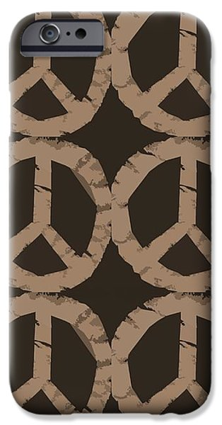 Peace Symbol Collage iPhone Case by Michelle Calkins