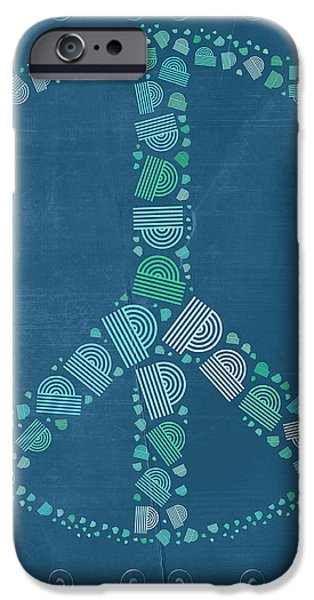 Peace Symbol Design - tq19at02 iPhone Case by Variance Collections
