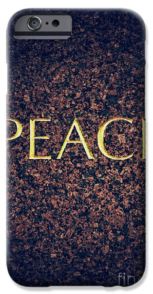 Gild iPhone Cases - Peace iPhone Case by Tim Gainey