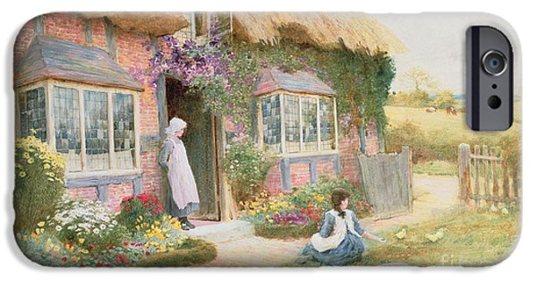 Chicks iPhone Cases - Peaceful Afternoon iPhone Case by Arthur Claude Strachan