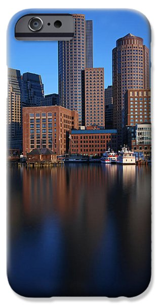 City. Boston iPhone Cases - Peaceful Boston iPhone Case by Juergen Roth