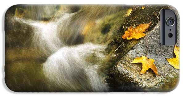 Nature Abstracts iPhone Cases - Peaceful Creek iPhone Case by Christina Rollo