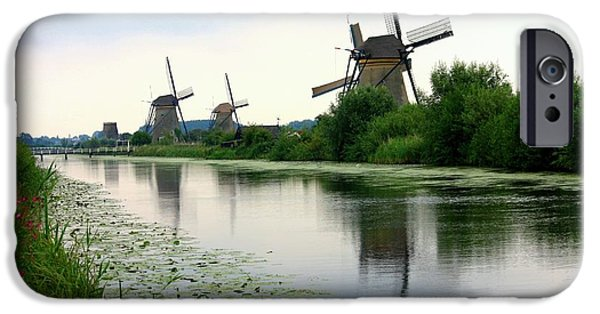 Nederland iPhone Cases - Peaceful Dutch Canal iPhone Case by Carol Groenen