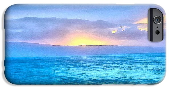 Ocean Sunset iPhone Cases - Peaceful Ending iPhone Case by Krissy Katsimbras