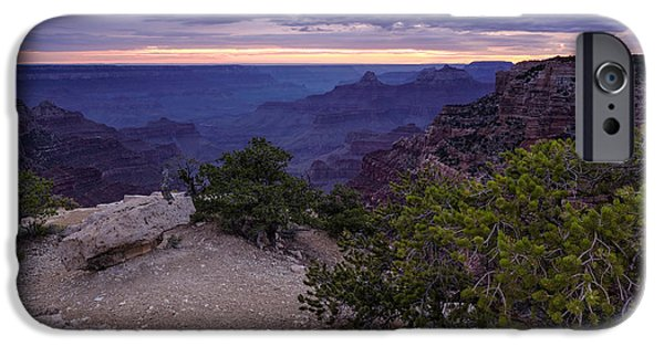 Grand Canyon iPhone Cases - Peaceful Ending to a Day at Cape Royal North Rim Grand Canyon iPhone Case by Silvio Ligutti