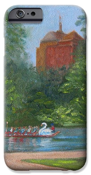 Boston Ma Paintings iPhone Cases - Peaceful Escape iPhone Case by Claire Norris
