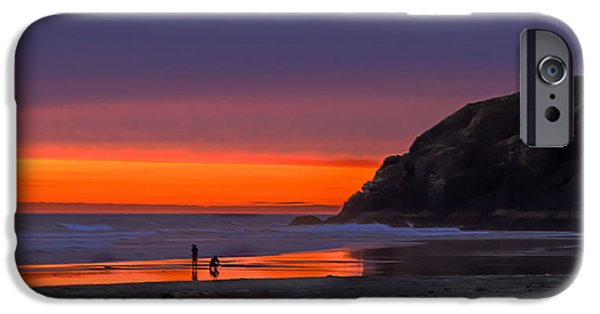 Cape Disappointment iPhone Cases - Peaceful Evening iPhone Case by Robert Bales