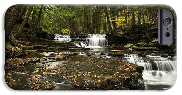 Nature Scene iPhone Cases - Peaceful Flowing Falls iPhone Case by Christina Rollo