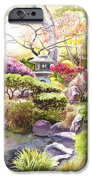 Affirmation iPhone Cases - Peaceful Garden iPhone Case by Irina Sztukowski