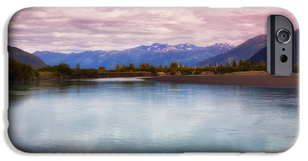 Portage iPhone Cases - Peaceful in Alaska iPhone Case by Kim Hojnacki