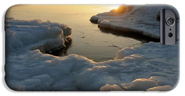 Sandra Updyke iPhone Cases - Peaceful Moment on Lake Superior iPhone Case by Sandra Updyke