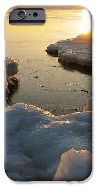 Peaceful Moment on Lake Superior iPhone Case by Sandra Updyke