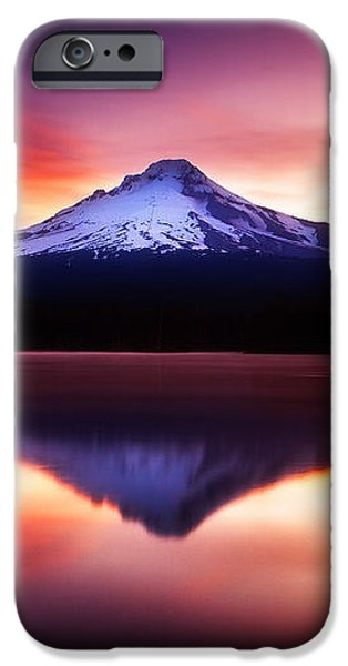 Peaceful Morning on the Lake iPhone Case by Darren  White