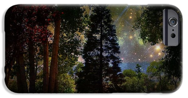 Matting iPhone Cases - Magical Night at the River iPhone Case by Bobbee Rickard
