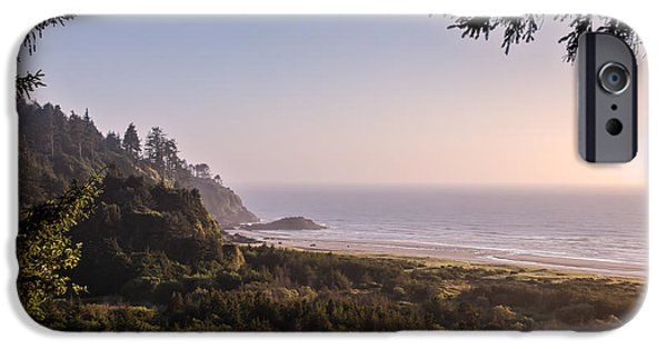 Cape Disappointment iPhone Cases - Peaceful Pacific Ocean iPhone Case by Robert Bales
