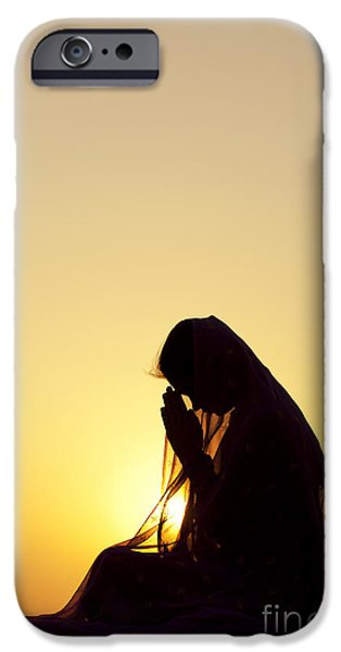 Innocence iPhone Cases - Peaceful Prayer iPhone Case by Tim Gainey