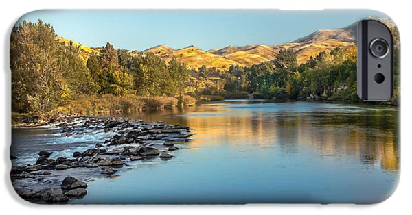 Emmett iPhone Cases - Peaceful River iPhone Case by Robert Bales