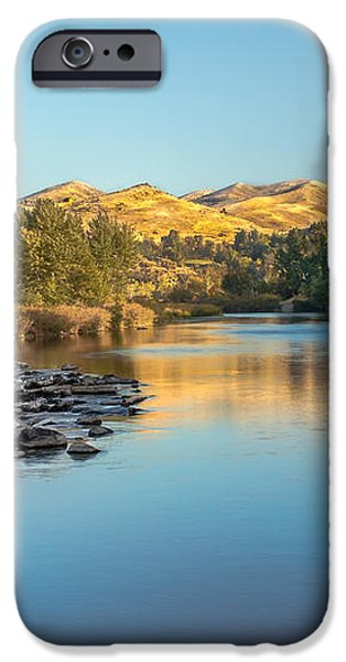 Peaceful River iPhone Case by Robert Bales