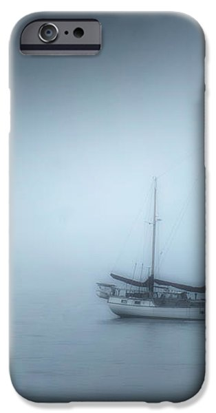 Peaceful Sailboat on a Foggy Morning from the book MY OCEAN iPhone Case by Artist and Photographer Laura Wrede