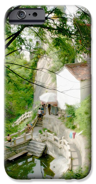 Buddhist iPhone Cases - Peaceful spot in China iPhone Case by Tracy Winter