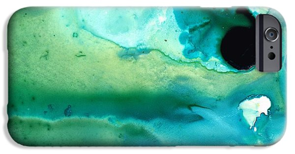 Flowing iPhone Cases - Peaceful Understanding iPhone Case by Sharon Cummings