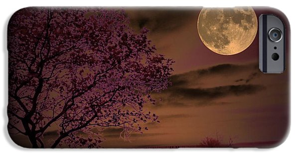 Moonscape iPhone Cases - Peaceful Valley iPhone Case by Robert McCubbin