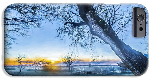 White House iPhone Cases - Peaceful Vista - Painting iPhone Case by F Leblanc