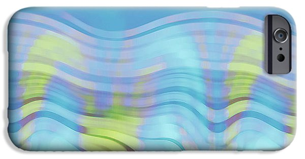 Coastal Decor Digital iPhone Cases - Peaceful Waves iPhone Case by Ben and Raisa Gertsberg