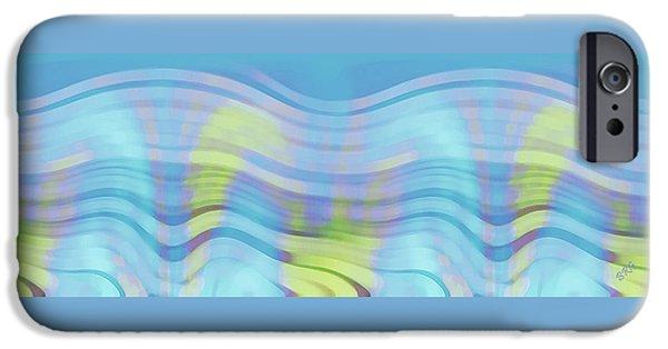 Ben Gertsberg Digital Art iPhone Cases - Peaceful Waves iPhone Case by Ben and Raisa Gertsberg
