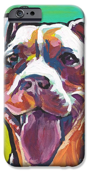 Bull Dog iPhone Cases - Peach Pit iPhone Case by Lea