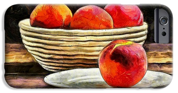 Van Gogh iPhone Cases - Peaches Still Life iPhone Case by Edward Fielding