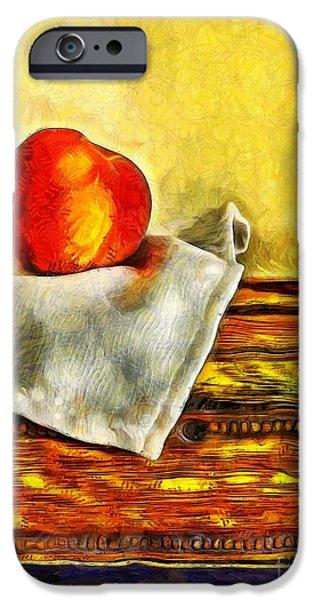 Van Gogh iPhone Cases - Peaches Still Life Van Gogh iPhone Case by Edward Fielding