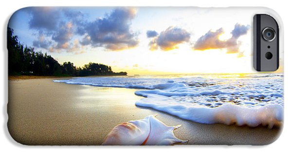 Seascapes iPhone Cases - Peachs n Cream iPhone Case by Sean Davey