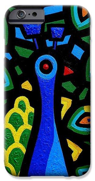 Peacock III iPhone Case by John  Nolan