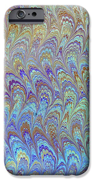 Recently Sold -  - Abstract Forms iPhone Cases - Peacock Marble iPhone Case by Michelle Gilley