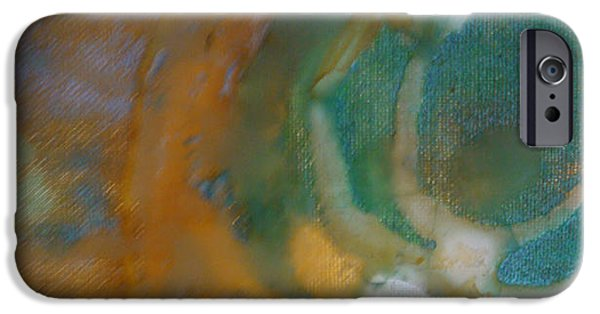Pastel Tapestries - Textiles iPhone Cases - Searching for Teal 003 iPhone Case by Lori Russell
